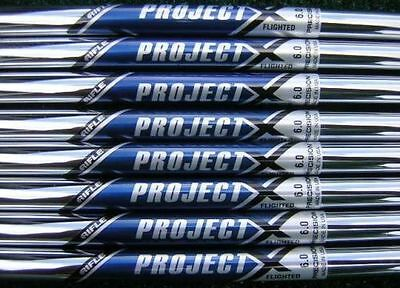 Project X 6.0 Flighted Iron shaft set (3-P) 8 Shafts