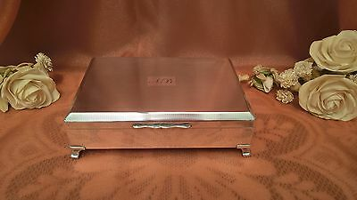 Silver Plated Harman Brothers Aristocrat Cigarette Box Made In England