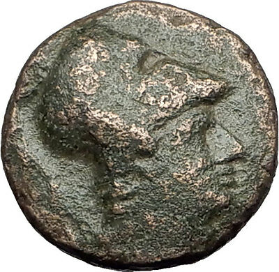 Antigonos II Gonatas 274BC Macedonia Ancient Greek Coin ATHENA PAN TROPHY i62226
