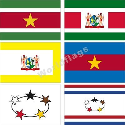 Verzamelingen SURINAME FLAG 3X5 FEET  BANNER SIGN SURINAMESE SOUTH AMERICA 3'X5' NEW F572 Insignes