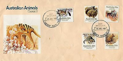 Australian FIrst Day Cover 15th July 1981 Australian Animals