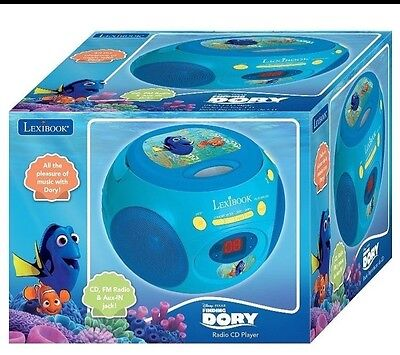 Lexibook Finding Dory Cd Player Radio Aux Brand New!!!
