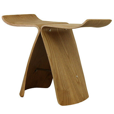 Wooden Butterfly Stool in either Natural wood or Walnut