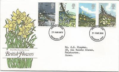 Post  Office    First  day cover  1979 British  Flowers