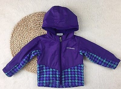 Columbia toddler girls 2T purple fleece jacket, waterproof sweater with hood
