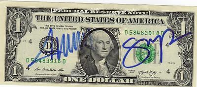 President Donald Trump and Vice President Mike Pence signed Dollar Bill plus COA