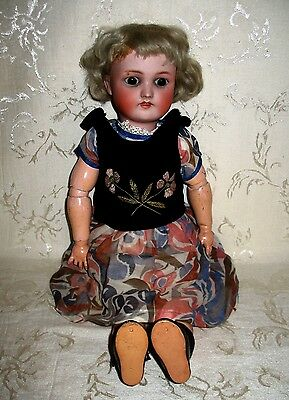 Late 1800's Heinrich Handwerck Antique German Doll JH 10 N & Hal Big