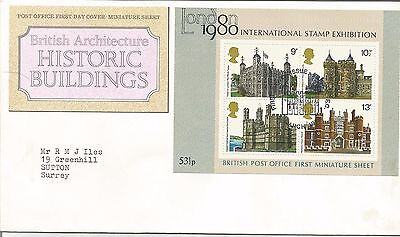 Post  Office First  Day Cover  Historic Buildings 1980
