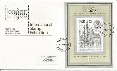 Post  Office  First Day Cover International stamp  Exhibition 1980