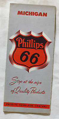 PHILLIPS 66 CARTE ROUTIERE ROAD MAP Edition - MICHIGAN