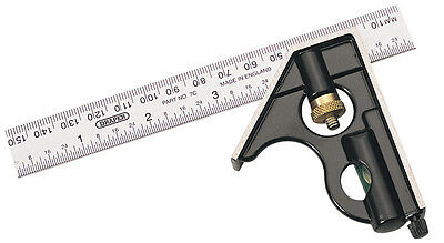 Genuine DRAPER 150mm Metric and Imperial Combination Square | 34702