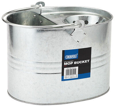 Genuine DRAPER 9L Galvanised Mop Bucket | 53245