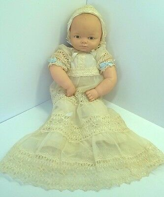 """Vintage 1960's Adorable Cameo Miss Peep Baby Doll 18"""" Stamped Cameo SI.GI C2.83"""