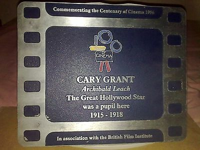 Cary Grant commemorative plaque. Unique opportunity                            .