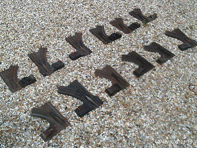 Collection Of 12 Lionel 1 1/4 Inch 3 Rail Electric Points Hand Operated Motored