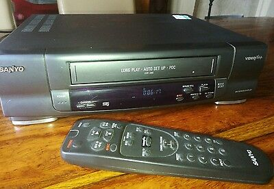 SANYO VCR video player with new scart cable / WITH REMOTE