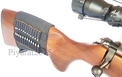 Best Of 24Rounds .22 Ruger 10/22 Elastic Buttstock Rifle Shell Holder Stock Ammo