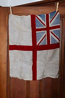 ANTIQUE BRITISH ENSIGN FLAG 78cm x 35cm Early 1900's St Georges Ensign NAVY