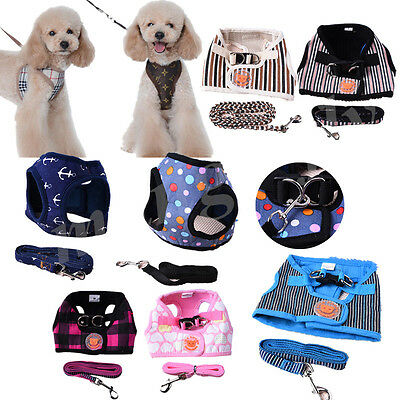Adjustable Pet Dog Cat Harness Traction Rope Soft Mesh Chest Strap Vest Harness