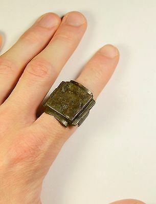 HUGE 21g. ANTIQUE / POST MEDIEVAL BRONZE RING - WEARABLE ARTIFACT