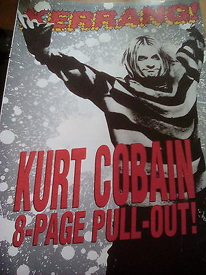 Nirvana 8 Page Pull out with Poster to frame? from Kerrang Magazine Kurt Cobain