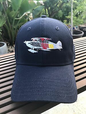 Christen Eagle II Aircraft Embroidered Navy Cap - custom-stitched by owner