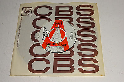 """STONY BROOK PEOPLE EASY TO BE HARD 1969 CBS UK 7"""" 1st PRESS LARGE 'A' DEMO COPY"""