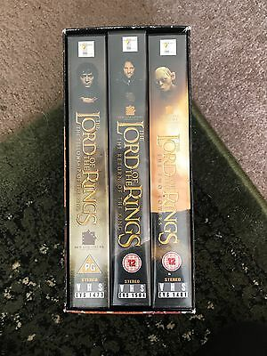lord of the rings vhs box set