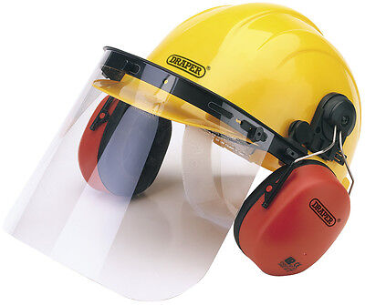 Genuine DRAPER Safety Helmet with Ear Muffs and Visor | 69933