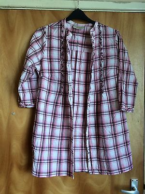 Women's Pink Checked Shirt/top Size 18 By Ann Harvey