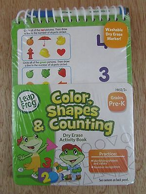 LeapFrog Dry Erase Activity Book Color Shapes & Counting Pre-K
