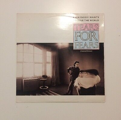 """Tears For Fears - Everybody Wants To Rule The World - 12"""" Vinyl Record - (1985)"""