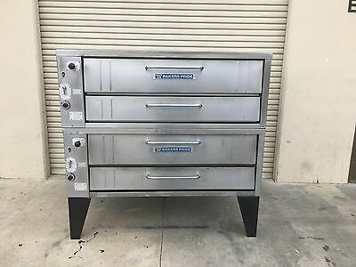 bakers pride 452 double deck pizza ovens  -  completely reconditioned