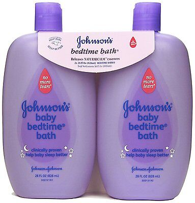 Johnson's Bedtime Bath Gentle Cleanser, 28 Fl. Oz. Pack of 2