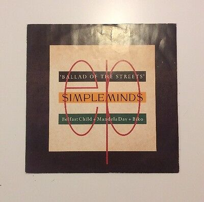 """Simple Minds - Ballad Of The Streets / Belfast Child - 12"""" Vinyl Record - (1989)"""