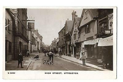 Uttoxeter. High Street. R/P. Posted in 1911.