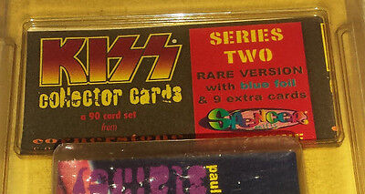 Kiss: cards 1997 conerstone series 2 new sealed 90 card set rare blue foil