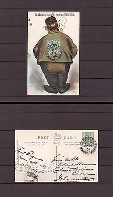 British Empire - 1906 Transvaal Postal History - Postcard with Germiston cancel