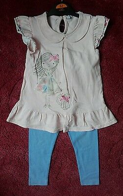 Baby girls 18 - 24 months long top & leggings set  1 1/2 - 2 years