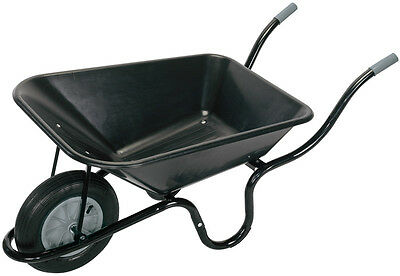 Genuine DRAPER Plastic Tray Wheelbarrow (85L) | 17993