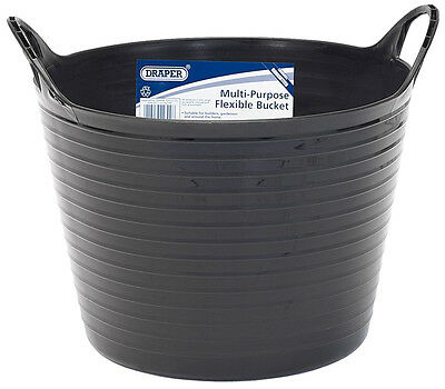 Genuine DRAPER 15L Multi Purpose Flexible Bucket - Black | 22300