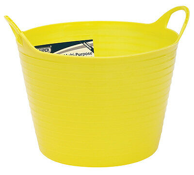 Genuine DRAPER 15L Multi Purpose Flexible Bucket - Yellow | 22302