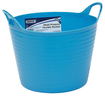 Genuine DRAPER 15L Multi Purpose Flexible Bucket - Blue | 22304