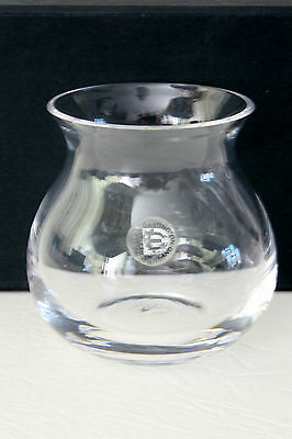 Dartington Crystal Glass Small Vase with label ~ Frank Thrower circa 1980