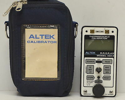 Altek 322-2 Universal Thermocouple Calibrator 322