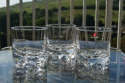 3 iittala Gaissa old fashioned whiskey glasses by Tapio Wirkkala 20cl