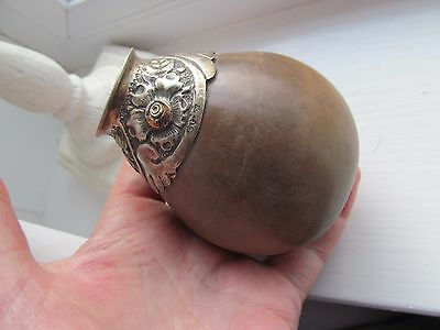 Lovely Antique Quality Silver Mounted Gourd Vase Circa 1900