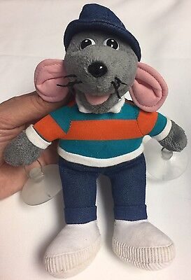ROLAND RAT SUPERSTAR Soft Plush toy with window suckers. Posh Paws 8 inches high