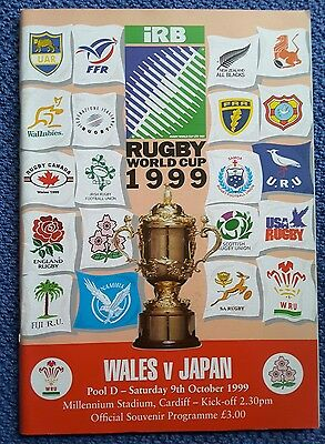 Wales v Japan 1999 Rugby World Cup Programme