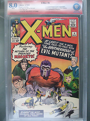 X-Men #4 CBCS 8.0 1st Quicksilver & Scarlet Witch **Signed Jack Kirby** like CGC